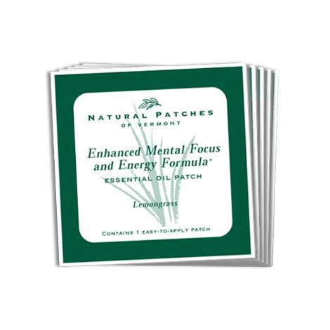 Natural Patches Of Vermont Mental Focus And Energy Formula Essential Oil Patch