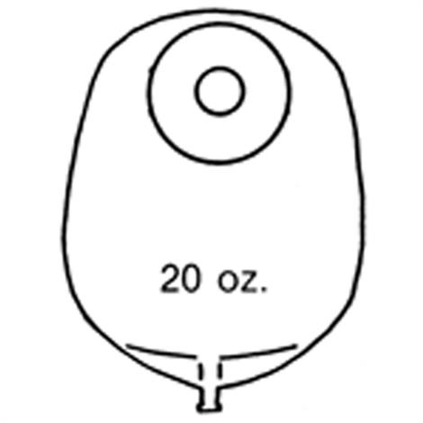 Nu-Hope Nu-Flex Round Post-Operative Mid-Size Urinary Pouch With Flutter Valve