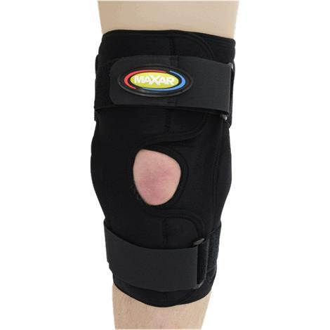 MAXAR Airprene (Breathable Neoprene) Wrap-Around Knee Brace With Double Pivot Hinge