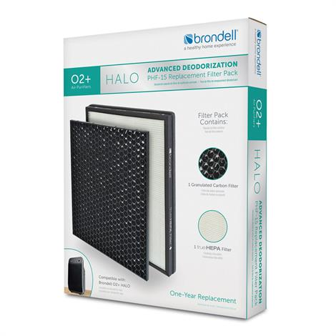 Brondell Advanced Deodorization Replacement Filter Pack For O2+ Halo Air Purifier