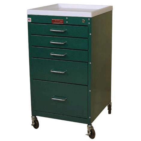 Harloff Five Drawer Mini Line Anesthesia Cart With Key Lock