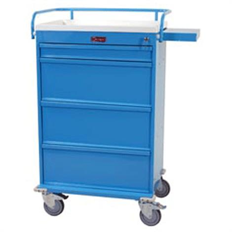 Harloff Value Line Punch Card Medication Cart With Key Lock