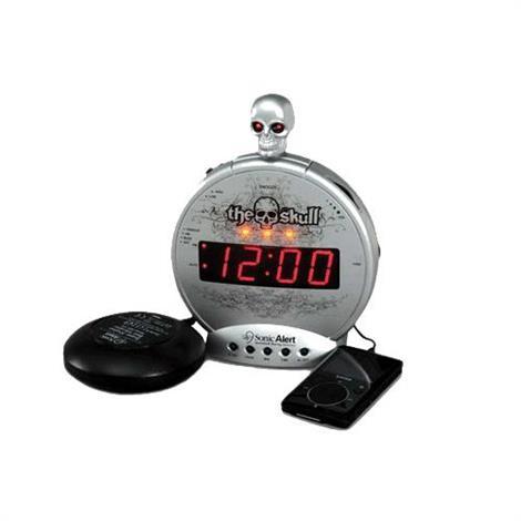 Buy Sonic The Skull Alarm Clock with Bone Crusher Bed Shaker