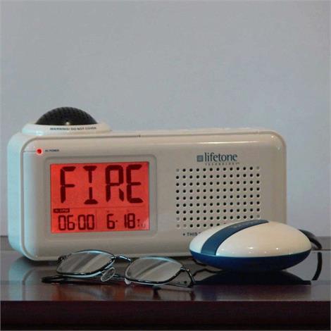 Buy Lifetone HLAC151 Bedside Vibrating Fire Alarm and Clock