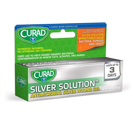 Medline Curad Silver Antimicrobial Wound Gel Solution