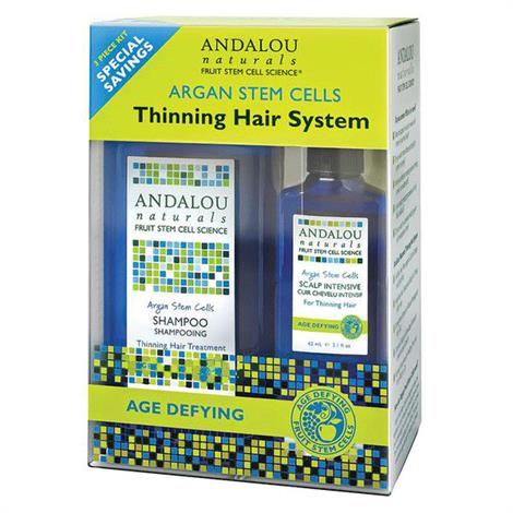 Buy Andalou Argan Stem Cell Age Defying Thinning Hair System