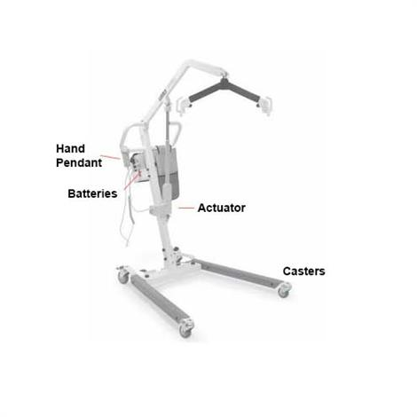 Graham-Field Lumex Rear Caster for Bariatric Patient Lifting System