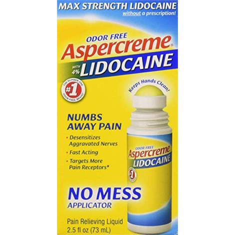 Buy Chattem Aspercreme Lidocaine No Mess Applicator Pain Relief Cream