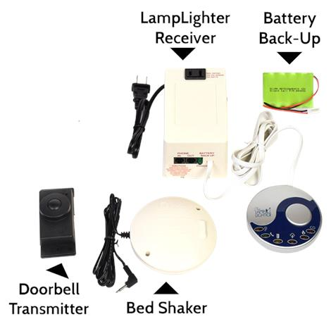 Silent Call Legacy Series Lamplighter Kit 3 with Doorbell and Phone/VP Notification