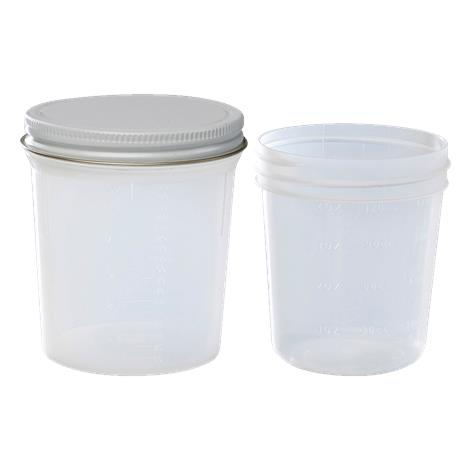 Covidien Kendall Graduated Wide Mouth Containers with Metal Cap
