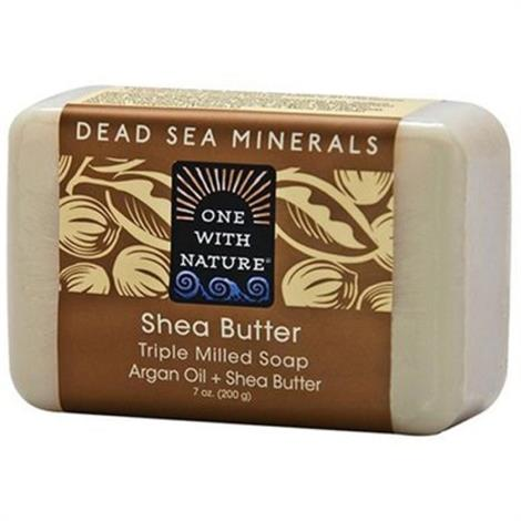 One With Nature Nkd Shea Butter Bar Soap