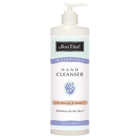 Bon Vital Waterless Hand Cleanser 32oz Bottle With Pump