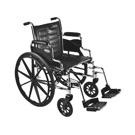 """Buy Invacare Tracer EX2 16"""" x 16"""" Frame Removable Full Length Arm Wheelchair"""