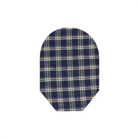 C&S Daily Wear Close End Blue Plaid Ostomy Pouch Cover