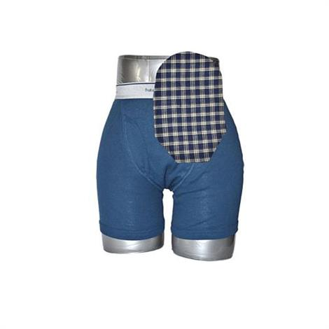 C&S Daily Wear Open End Blue Plaid Ostomy Pouch Cover
