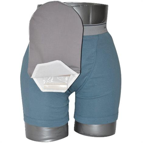 C&S Daily Wear Open End Gray Ostomy Pouch Cover