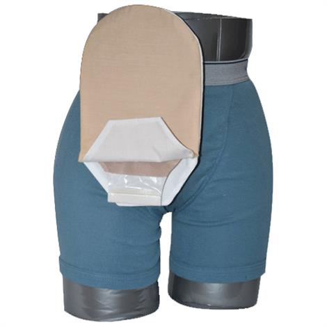 C&S Daily Wear Open End Tan Ostomy Pouch Cover
