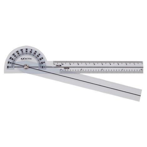 Buy Exacta Clear Plastic 180 Degree Goniometer