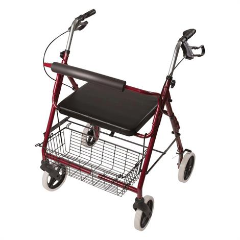 Mabis DMI Extra Wide Heavy Duty Steel Bariatric Rollator