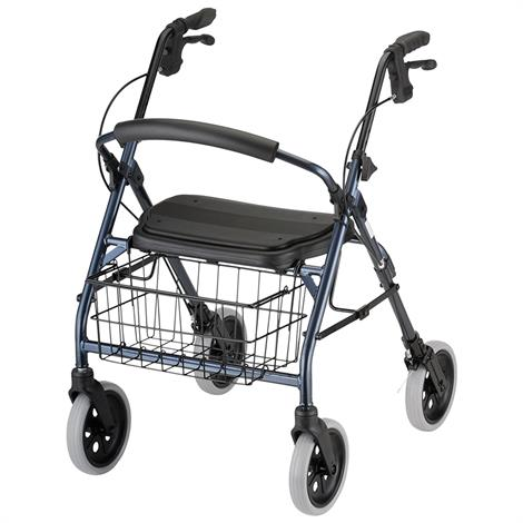 Nova Medical Mack Heavy Duty Four-Wheel Rolling Walker or Rollator