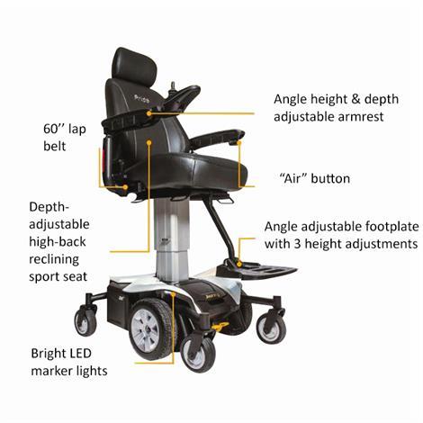 Pride Jazzy Air Power Wheelchair