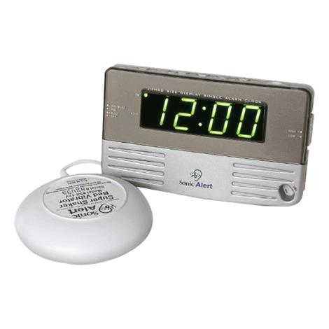Sonic Boom Bedside And Travel Alarm Clock with Bed Shaker