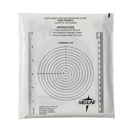 Medline Wound Measuring Guide with Bullseye Ruler