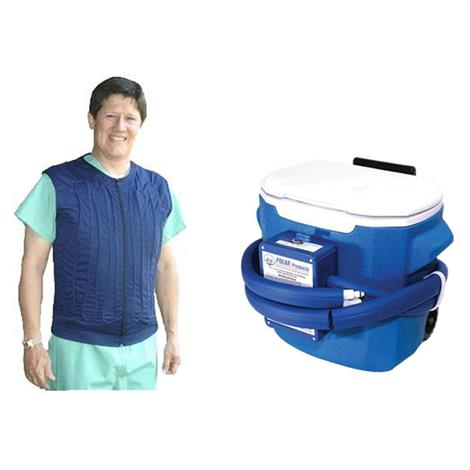 Polar Cool Flow Body Cooling Fitted Vest System with Cooler
