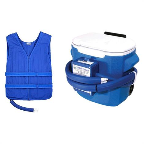 Polar Cool Flow Heavy Duty Body Cooling Vest System with Cooler