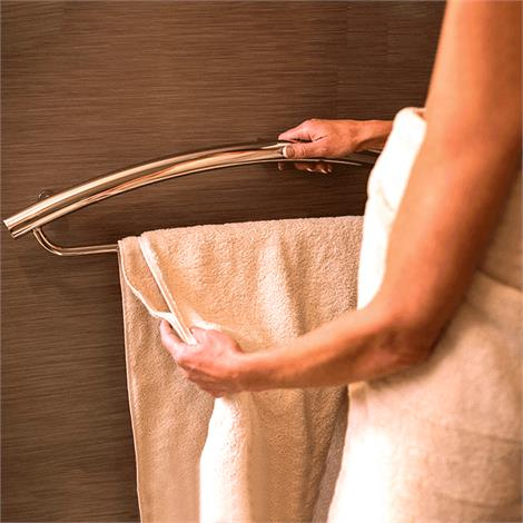 Buy HealthCraft Invisia 2-in-1 Towel Bar With Integrated Grab Bar