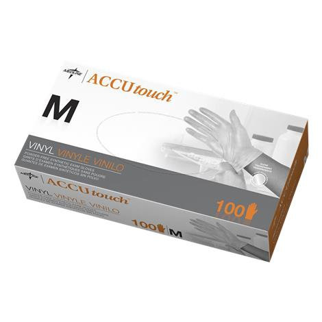 Medline Accutouch Synthetic Vinyl Powder Free Exam Gloves