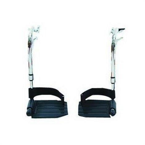 Invacare Hemi Footrests With Composite Footplates And Heel Loops