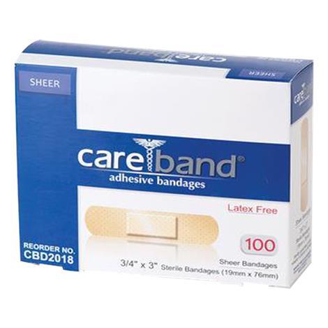 ASO Careband Sheer Adhesive Bandages