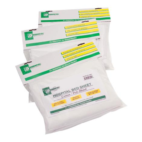 Essential Medical Flat Top Sheet for Hospital Beds