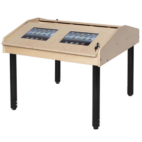 Buy Childrens Factory Angeles 4-Station Ipad Air Technology Table With Adjustable Legs