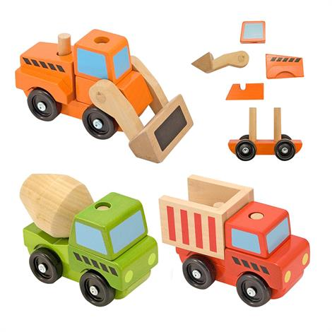 Melissa & Doug Stacking Wooden Vehicles