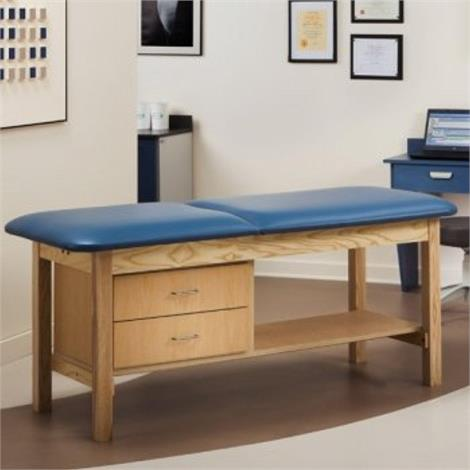 Clinton ETA Classic Series Treatment Table with Drawers