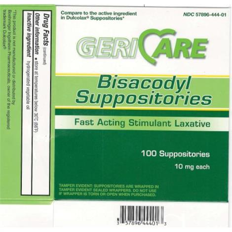 McKesson Geri Care Bisacodyl Suppositories