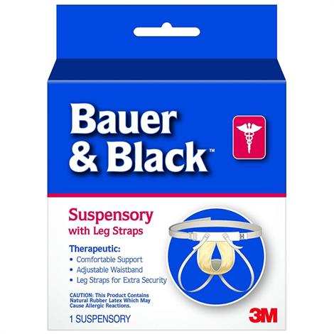 Buy 3M Bauer & Black Scrotal Support Suspensory With Leg Straps