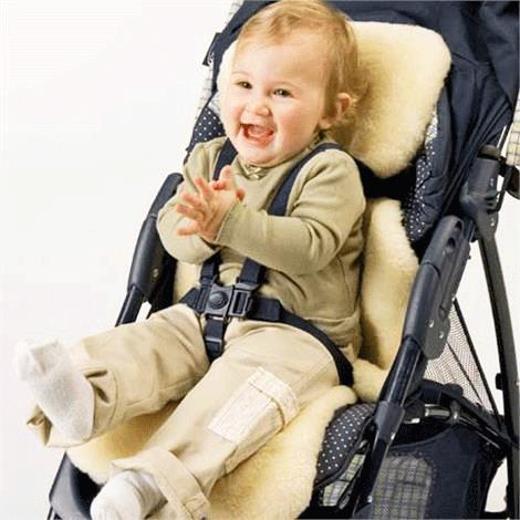 Baby Irish Lambskin Liner For Car Seats or Buggies