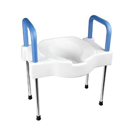 Maddak Extra Wide Tall Ette Elevated Toilet Seat With Arms