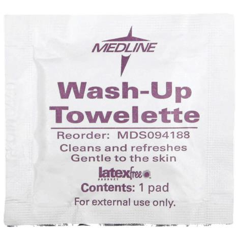 Medline Wash-Up Antiseptic Cleansing Towelettes