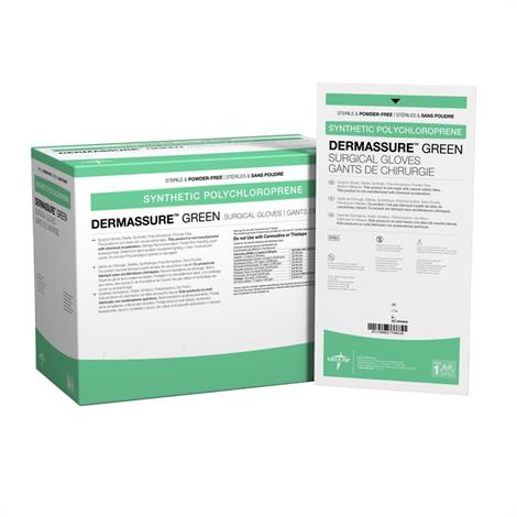 Medline DermAssure Green Powder-Free Surgical Gloves