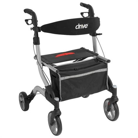 Drive Euro-style I-Walker Aluminum Rollator With Seven Inch Casters