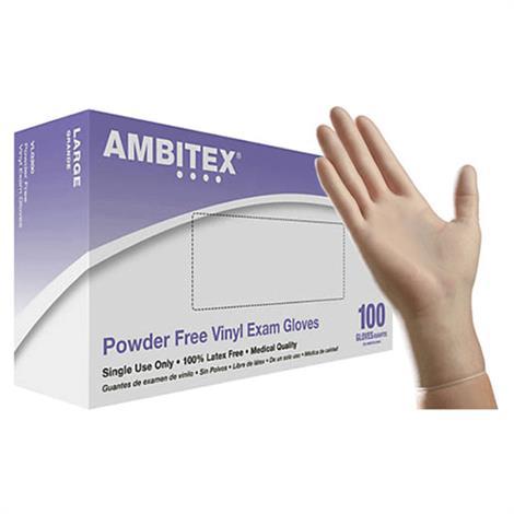 Ambitex Powder Free Disposable Vinyl Exam Gloves Medical
