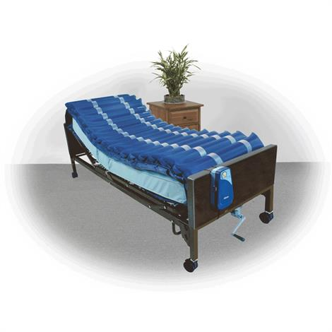 Drive Med Aire Five Inches Alternating Pressure Mattress Overlay System with Low Air Loss