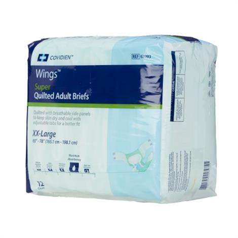 Covidien Wings Super Quilted XXL Adult Briefs