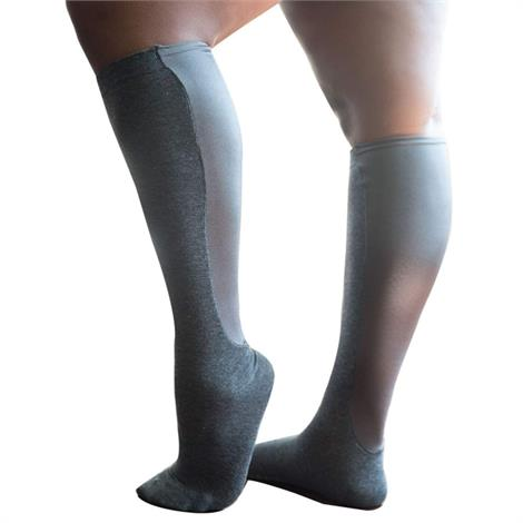 Xpandasox Plus Size/Wide Calf Cotton Blend Solid Panel Knee High Compression Socks