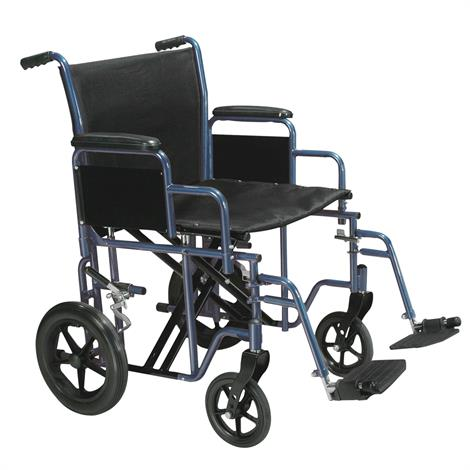 Buy Drive Bariatric Steel Transport Chair With Swing-Away Footrests