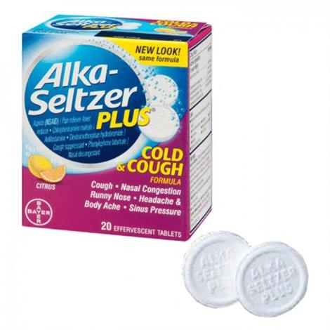 Alka Seltzer Plus Cold And Cough Tablets